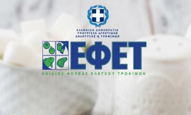 ΕΦΕΤ: Επιβολή προστίμων σε 28 επιχειρήσεις τροφίμων
