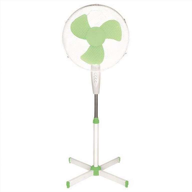 Ανεμιστήρας Δαπέδου με Ορθοστάτη 60W Λευκό – Πράσινο Cool Wave Eurolamp